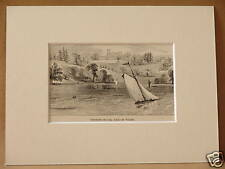 OSBORNE HOUSE ISLE OF WIGHT ANTIQUE ENGRAVING FROM c1890 PUBLICATION 8X6 OVERALL