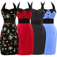 Womens Vintage 50s Retro ROCK N ROLL Housewife Evening Party WIGGLE Pinup Dress