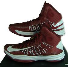 "New Mens 16.5 NIKE ""Hyperdunk TB"" Maroon White High Top Basketball Shoes $125"