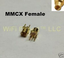 2 x MMCX female straight Jack center solder PCB mount RF connector ships from US