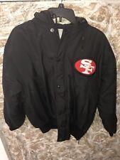 San Francisco 49ers NFL Vintage Hooded Parka Jacket Mens Size XS / S Big Logo