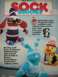 McCall's Craft Pattern Book - SOCK BUDDIES - 16 Projects all from ordinary socks