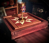 HAND-MADE WOODEN MAGICK WICCAN OR OCCULT ALTAR ** CEREMONIAL MAGIC * NEOPAGANISM
