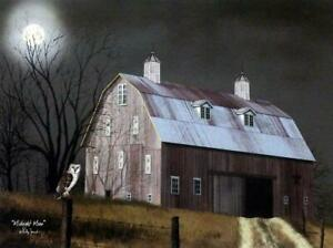 Billy Jacobs Midnight Moon Country Farm Print  16 x 12