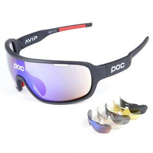 POC Radbrillen Sonnenbrille UV400 Polarisiert Unisex Sunglasses mit 5x Lens DE