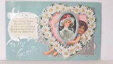Nash CUPID VALENTINE SERIES 1 Daisy Heart Vintage Valentines Day 1909 Post card