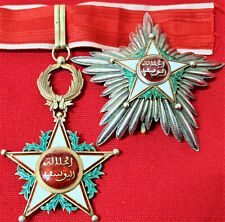 WW1 ERA MORROCO ORDER OUISSAM ALAOUITE, TYPE 1 GRAND COMMANDER MEDAL & STAR SET