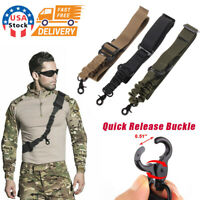 USA One Single Point Rifle Sling Tactical Gun Sling Strap with Length Adjustable