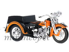 MAISTO 03179 HARLEY DAVIDSON 1947 SERVI CAR MOTORCYCLE 1/18 BLACK / ORANGE