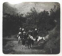 Indochine Siam Colonie France Photo K14 Plaque de verre Stereo Vintage