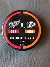 Anaheim Ducks vs Detroit Red Wings Used Warm-Up Puck NHL November 12, 2019 11/12