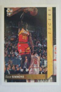 NBL Basketball Card Futera Australia - Dave Simmons - Tigers