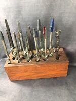 Set of 17 Vintage Spur Auger Drill Bits - Craftsman Stanley Jennings - Germany