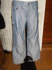 Pantalon technique de ski ou snow bleu ciel rayé ROXY M 38/40 18PQ1