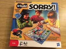 Hasbro 2010 U-Build LEGO SORRY !  Kids Building Board Game Complete EUC Ages 6+