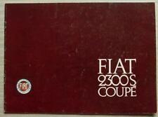 FIAT 2300S COUPE Car Sales Brochure c1964 #2284