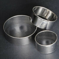 AB_ 3 Pcs Stainless Steel Round Cookie Biscuit Pastry Cutter Baking Cake Decor M