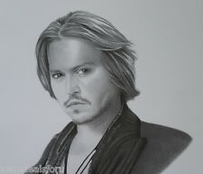 Young Johnny Depp Black & White Pencil Artist Print Art Drawing Picture Pirates