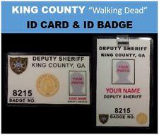 "KING COUNTY  ""walking Dead""  movie IDs ...ID card  &  ID badge"