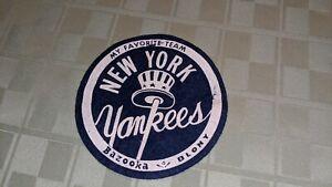 """1958 New York Yankees Bazooka 5"""" Felt Patch"""