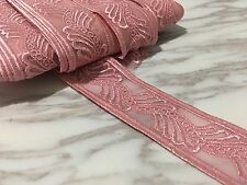 4 cm width Pretty Pink Embroidery Mesh Lace Trim Ribbon Sewing Doll Per Meter