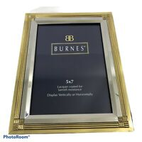 "Burnes of Boston 5""x7"" Gold Silver Toned Picture Frame"