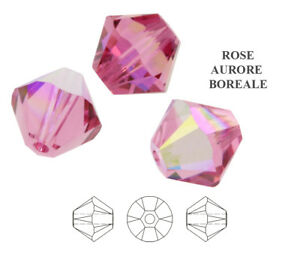 Genuine SWAROVSKI 5328 XILION Bicone Crystals Beads * Many Colors with Effects