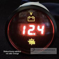 Voltmeter digital instrumento gauge 12v - 24v coche 52mm Front anillo negro