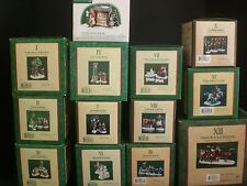 Dept 56 12 Days of Christmas Dickens Village 13 Piece Set: 12 Days + Sign