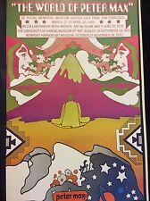 Psychedelic  Rare Vintage The World of Peter Max Abstract Pop Art Poster