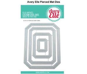 Avery Elle Ellements Die Set  ~ PIERCED MAT ~ Nesting, Frames, Outlines ~D-07-01