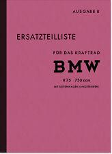 BMW R 75 WH Wehrmacht Seitenwagen Ersatzteilliste Ersatzteilkatalog Teilekatalog
