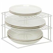 3 Tier Corner Plate Kitchen Cupboard Organiser Tidy Storage Rack Dish Stand