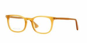 Gucci GG0122O 004 50  Yellow Opal Plastic Square Eyeglasses 50mm