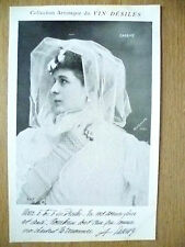 Postcards- Theatre & Opera Actresses CASSIVE by Vin Desiles