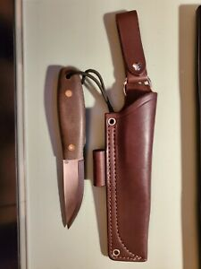 LT Wright Lagom Bush Bushcraft Knife W/ JRE Leather Sheath Excellent Barely Used