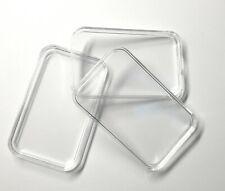 10 Kapseln für 1 oz Barren Gold Silber Platin rechteckige Münzkapsel Unze Acryl