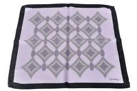E. Marinella 100% Silk Scarf Hankerchief Tuch Schal Tissu  Violett Soie   44 cm
