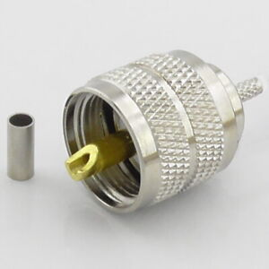 5pcs PL259 Crimp Plug, Male for RG316 RG174, UHF Plug