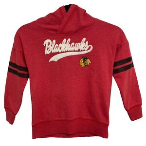 Girls Youth Kids Chicago Blackhawks Red Pull Over Hoodie Size Small 6 (E-1J)