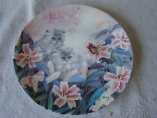 Collector Cat Plate Flowering Fascination Kittens & Lillies by Lily Chang 201659