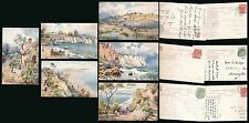 ISLE of WIGHT HANTS TUCKS OILETTE 7588 SET ARTIST WIMBUSH POSTALLY USED 6 CARDS