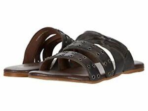 New $80 Roan by Bedstu Peony Bosco Grey Slide Sandals Shoes Womens 9.5