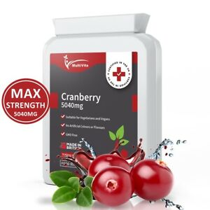 MAX STRENGTH Cranberry 5040mg 90 Tablets Urinary Tract Bladder & Kidney Support