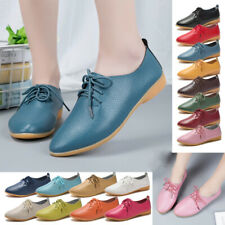 US 12 Women's Casual Flats Loafers Ladies Moccasins Comfy Genuine Leather Soft