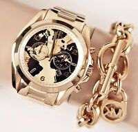 Original Michael Kors Uhr Damenuhr MK6272 BRADSHAW Hunger Stop Farbe:Gold NEU