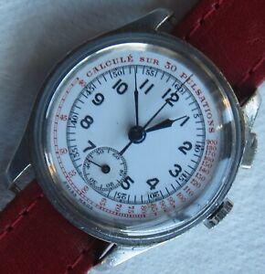 Medical Chronograph mens wristwatch 32 mm. in diameter enamel dial load manual