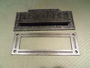 Original Antique Door Hardware Iron Letters Mail Pass Thru Slot Door Hardware