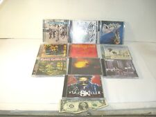 Lot of 10 Rock CD's - Some Signed - Iron Maiden - Stuttering John - Aiden + More
