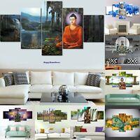Great Buddha Painting Peaceful Meditation Poster Wall Art Decor 5pc Canvas Print